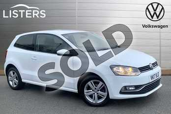 Volkswagen Polo 1.2 TSI Match Edition 3dr in Pure white at Listers Volkswagen Stratford-upon-Avon