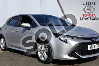 Toyota Corolla 1.8 VVT-i Hybrid Icon Tech 5dr CVT in Silver at Listers Toyota Stratford-upon-Avon