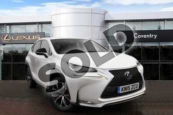 Lexus NX 300h 2.5 F-Sport 5dr CVT in Sonic White at Lexus Coventry