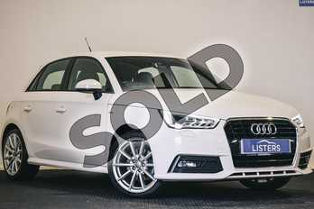 Audi A1 1.6 TDI S Line 5dr in Metallic - Glacier white at Listers U Stratford-upon-Avon