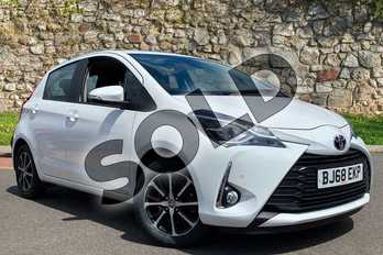 Toyota Yaris 1.5 VVT-i Icon Tech 5dr in White at Listers Toyota Coventry