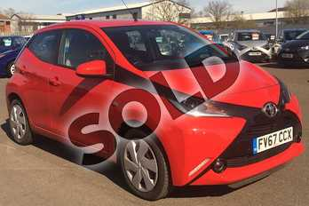 Toyota AYGO 1.0 VVT-i X-Play 5dr in Red Pop at Listers Toyota Lincoln