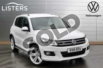 Volkswagen Tiguan 2.0 TDI BlueMotion Tech R Line 177 5dr DSG in Pure White at Listers Volkswagen Evesham