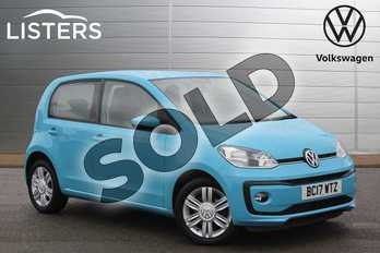 Volkswagen Up 1.0 High Up 5dr in Teal Blue at Listers Volkswagen Nuneaton