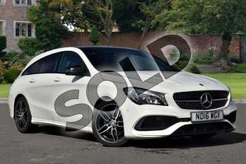 Mercedes-Benz CLA Class CLA 220d AMG Line 5dr Tip Auto in cirrus white at Mercedes-Benz of Lincoln