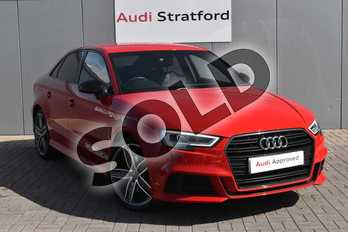 Audi A3 2.0 TDI S Line 4dr S Tronic in Tango Red Metallic at Stratford Audi