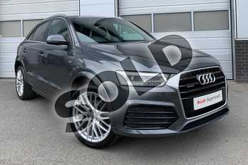 Audi Q3 2.0 TDI (184) Quattro S Line Plus 5dr S Tronic in Daytona Grey Pearlescent at Worcester Audi