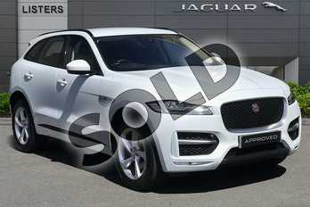 Jaguar F-PACE 2.0d R-Sport 5dr Auto AWD in Yulong White at Listers Jaguar Droitwich