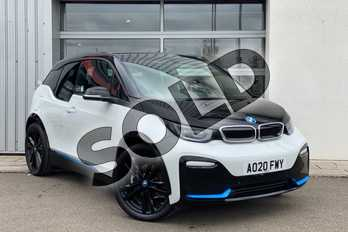 BMW I3 135kW S 42kWh 5dr Auto in Capparis White with BMW i Blue highlight at Listers King's Lynn (BMW)