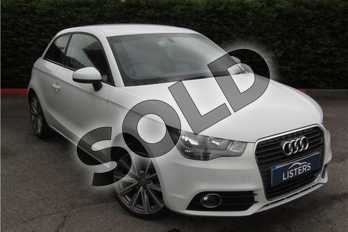 Audi A1 1.6 TDI Sport 3dr in Metallic - Glacier white at Listers U Boston