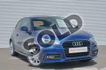 Audi A1 1.4 TFSI S Line 3dr in Scuba Blue Metallic at Coventry Audi