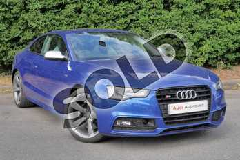 Audi A5 S5 Quattro Black Edition 2dr S Tronic in Sepang Blue Pearlescent at Worcester Audi