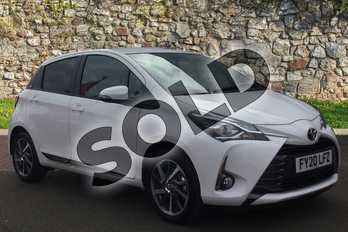 Toyota Yaris 1.5 VVT-i Y20 5dr (Bi-tone) in Pure White at Listers Toyota Grantham