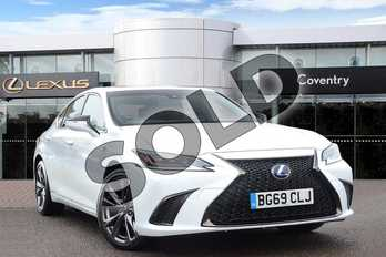 Lexus ES 300h 2.5 F-Sport 4dr CVT in F Sport White at Lexus Coventry