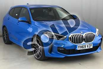 BMW 1 Series 118i M Sport 5dr in Misano Blue metallic at Listers King's Lynn (BMW)