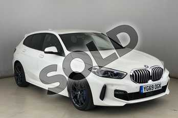 BMW 1 Series 118i M Sport 5dr Step Auto in Alpine White at Listers King's Lynn (BMW)