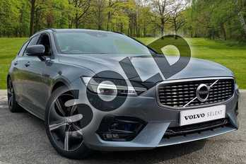 Volvo V90 2.0 D4 R DESIGN Plus 5dr Geartronic in Osmium Grey at Listers Volvo Worcester