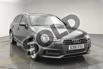Audi A4 2.0 TDI S Line 5dr in Daytona Grey Pearlescent at Birmingham Audi