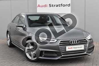 Audi A4 2.0 TDI S Line 4dr S Tronic in Monsoon Grey Metallic at Stratford Audi