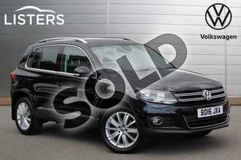 Volkswagen Tiguan 2.0 TDI BlueMotion Tech Match Edition 150 5dr DSG in Deep Black at Listers Volkswagen Nuneaton