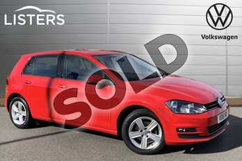 Volkswagen Golf 1.6 TDI 110 Match Edition 5dr in Tornado Red at Listers Volkswagen Stratford-upon-Avon