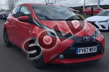 Toyota AYGO 1.0 VVT-i X-Style 5dr in Red Pop at Listers Toyota Lincoln