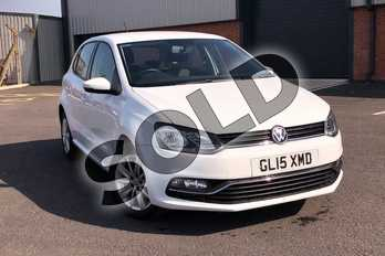 Volkswagen Polo 1.0 SE 5dr in Pure White at Listers Volkswagen Loughborough