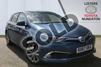 Toyota Auris 1.8 Hybrid Excel TSS 5dr CVT in Blue at Listers Toyota Nuneaton