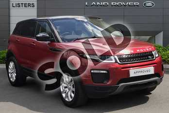 Range Rover Evoque 2.0 TD4 SE Tech 5dr Auto in Firenze Red at Listers Land Rover Droitwich