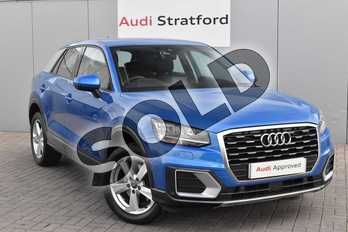Audi Q2 1.4 TFSI Sport 5dr S Tronic in Ara Blue Crystal Effect at Stratford Audi