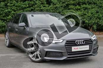 Audi A4 2.0 TDI Black Edition 4dr S Tronic in Daytona Grey Pearlescent at Worcester Audi
