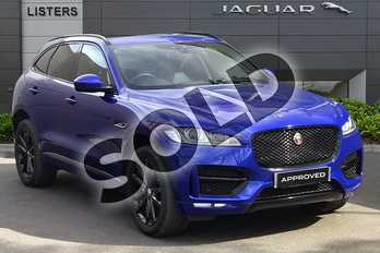 Jaguar F-PACE 2.0 i4 Diesel (240PS) R-Sport AWD in Caesium Blue at Listers Jaguar Droitwich