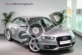 Audi A4 2.0 TDI 177 S Line 4dr in Tornado Grey, metallic at Birmingham Audi