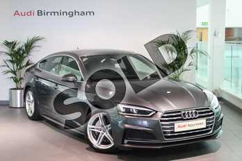 Audi A5 2.0 TDI S Line 5dr S Tronic in Daytona Grey Pearlescent at Birmingham Audi