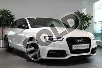 Audi A5 2.0 TDI 190 Black Ed Plus 5dr Multitronic (5st) in Ibis White at Birmingham Audi