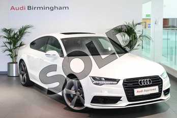 Audi A7 3.0 TDI Quattro 272 Black Edition 5dr S Tronic in Ibis White at Birmingham Audi