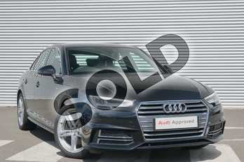 Audi A4 2.0 TDI 190 S Line 4dr in Myth Black Metallic at Coventry Audi