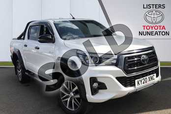 Toyota Hilux Invincible X D/Cab P/Up 2.4 D-4D Auto (3.5t Tow) in White at Listers Toyota Nuneaton
