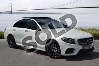 Mercedes-Benz E Class E350d AMG Line Night Edition Prem + 4dr 9G-Tronic in designo diamond white at Mercedes-Benz of Hull