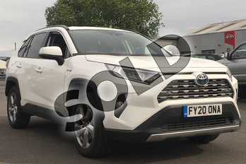 Toyota RAV4 2.5 VVT-i Hybrid Design 5dr CVT 2WD in Pure White at Listers Toyota Lincoln
