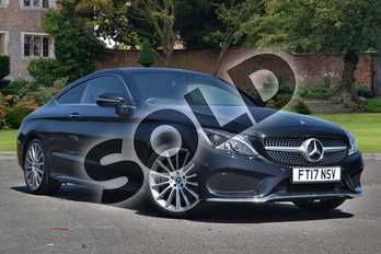 Mercedes-Benz C Class C300 AMG Line Premium 2dr 9G-Tronic in Obsidian Black Metallic at Mercedes-Benz of Lincoln
