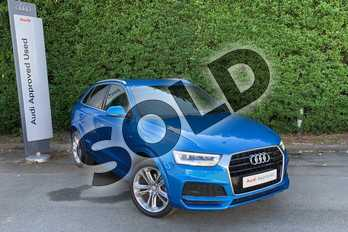 Audi Q3 1.4T FSI S Line Edition 5dr S Tronic in Hainan blue, metallic at Worcester Audi