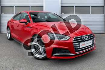 Audi A5 2.0 TDI Ultra S Line 5dr S Tronic in Tango Red Metallic at Worcester Audi