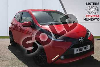 Toyota AYGO 1.0 VVT-i X-Style 5dr in Red at Listers Toyota Nuneaton