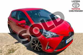 Toyota Yaris 1.5 VVT-i Icon Tech 5dr in Chilli Red at Listers Toyota Cheltenham