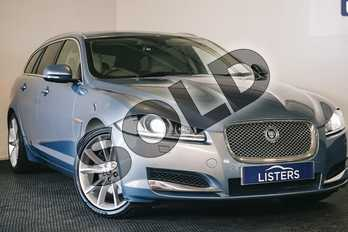 Jaguar XF 3.0d V6 Premium Luxury 5dr Auto in Metallic - Crystal blue at Listers U Stratford-upon-Avon