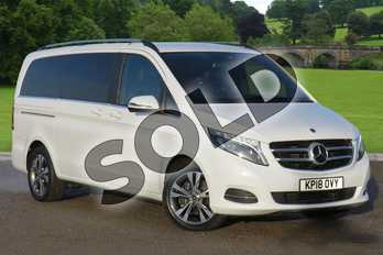Mercedes-Benz V Class V220 d Sport 5dr Auto (Extra Long) in rock crystal white- metallic at Mercedes-Benz of Lincoln