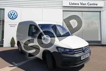 Volkswagen Caddy 1.0 TSI BlueMotion Tech 102PS Startline Van in White at Listers Volkswagen Van Centre Coventry