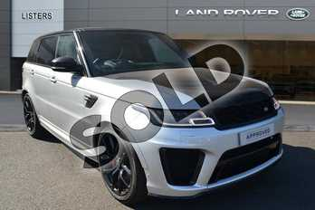 Range Rover Sport 5.0 V8 S/C 575 SVR 5dr Auto in Indus Silver at Listers Land Rover Hereford
