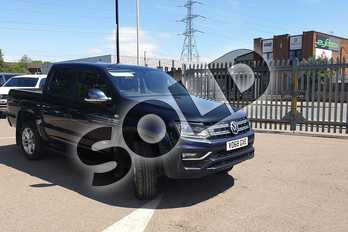Volkswagen Amarok D/Cab Pick Up Highline 3.0 V6 TDI 224 BMT 4M Auto in Blue at Listers Volkswagen Van Centre Coventry